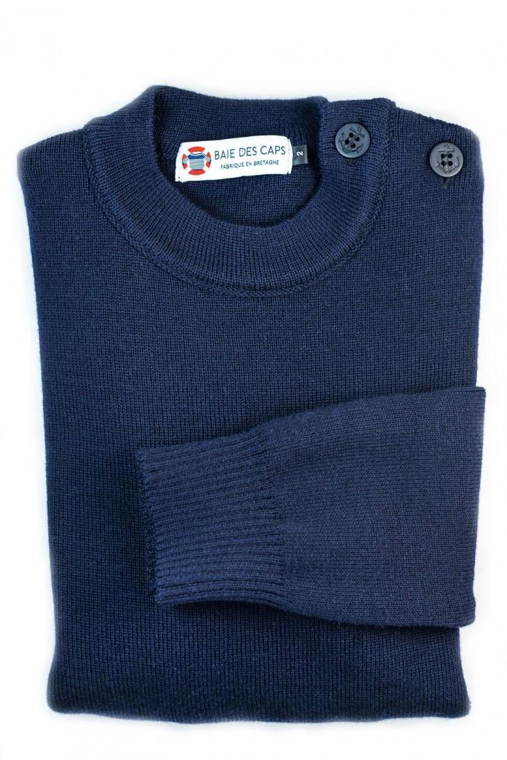 Pull Marin LOCTUDY marine - 50% laine coupe ajustée