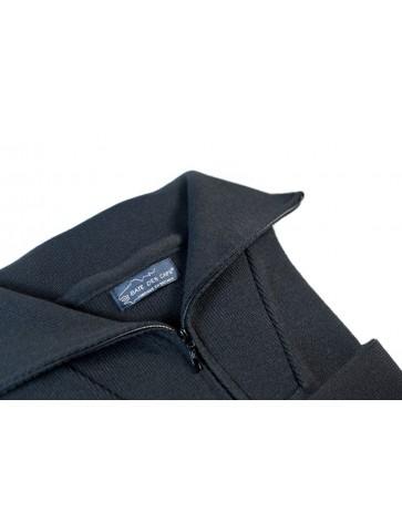 Pull homme col CAMIONNEUR HAUTE DENSITE bleu marine en pure laine - coupe confort