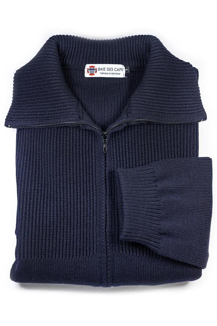 veste homme CAMBRIDGE bleu marine en pure laine - coupe confort
