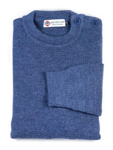 Pull Marin uni ERQUY jean - pure laine coupe confort