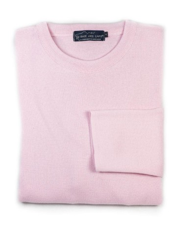Pull col rond ALIZEE rose -...