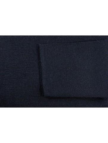 Pull col V CARAIBE marine - 50% laine coupe confort