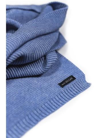 Echarpe fine 50% coton 134x22cm Bleu Ciel