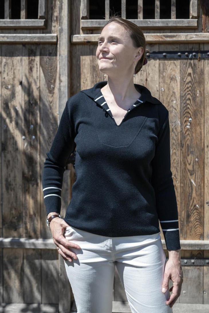 Vareuse en laine bleu marine - coupe confort