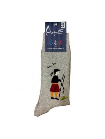 Chaussettes breton gris