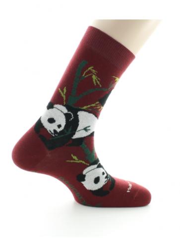Chaussettes Panda rouille