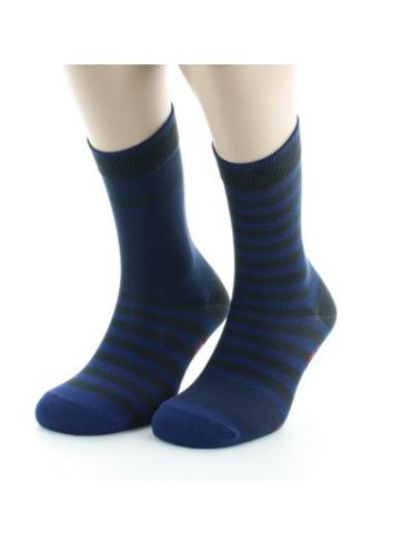 Chaussettes Homme rayures bleu
