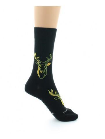 Chaussettes cerf noir