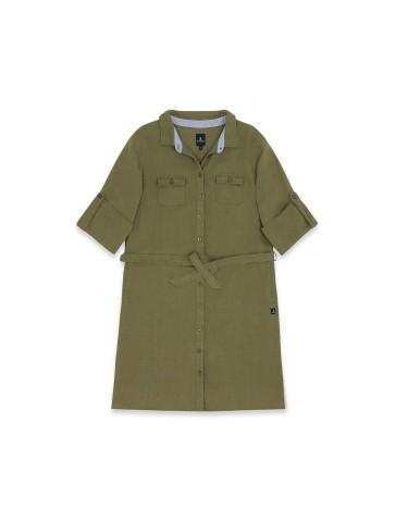 Robe liquette 100\% lin sauge
