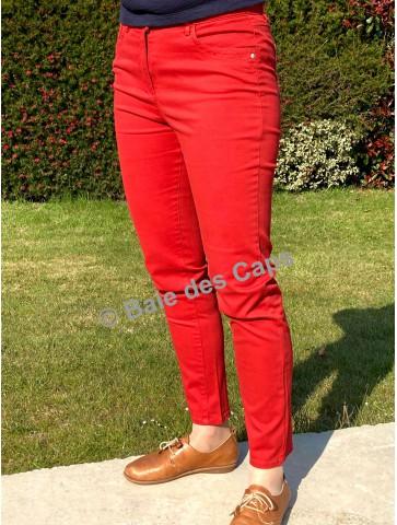 Pantalon slim taille haute...