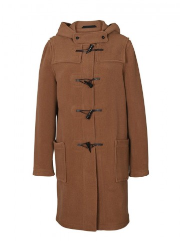Duffle coat femme à chevrons en laine imperméable - LIVERPOOL