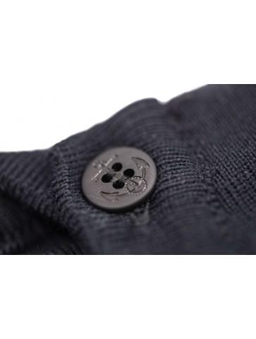 Pull Marin uni AVEYRON bleu marine - 50% laine coupe ajustée