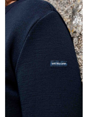 ROBE MANCHES LONGUES col rond bleu marine - 50% laine coupe confort