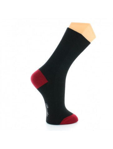 Chaussettes Napoléon noir-rouge