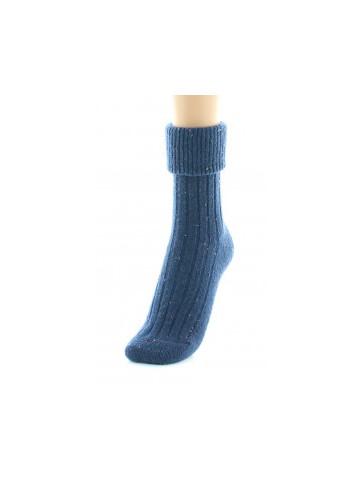 Chaussettes chinées marine