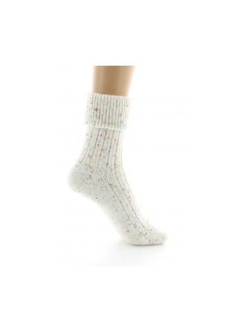 Chaussettes chinées écrues
