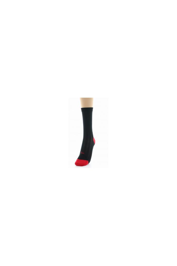 Chaussettes en soie noir