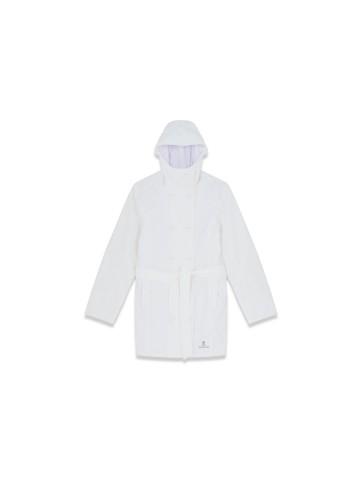Trench-coat enduit femme blanc - Kaniri