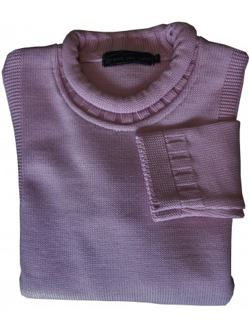 Pull GUERNESEY rose - 50% laine